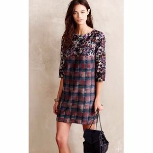Maeve Mixed Print Shift Dress
